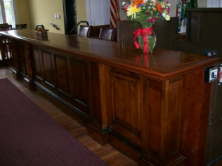 Restoration of Judge's bench at Historic Court House