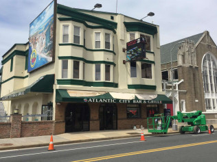 Atlantic City Bar and Grill Exterior Painting Work